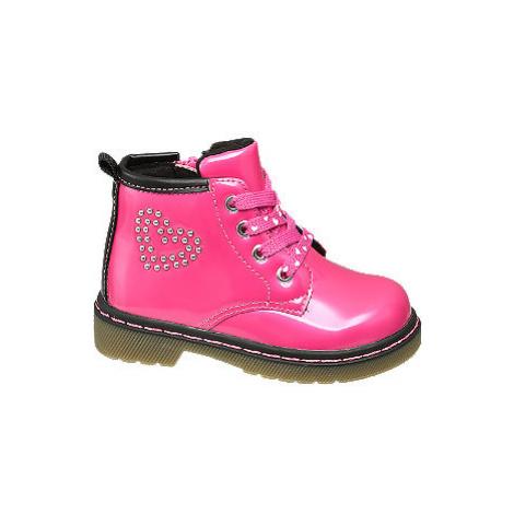 Ružová detská členková obuv na zips Cupcake Couture