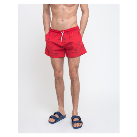 Knowledge Cotton Bay All-over Owl Swimshorts 1293 Scarlet