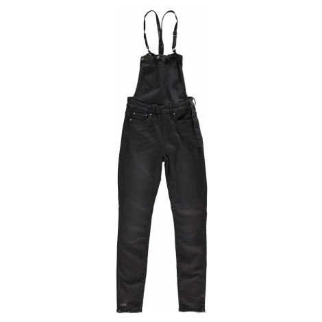 G Star 3301 High Waisted Skinny Overalls dk aged