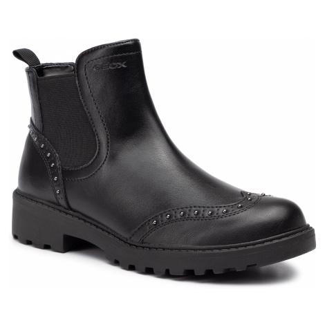 Kotníková obuv s elastickým prvkom GEOX - J Casey G. E J9420E 0BCNH C9999 D Black