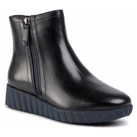 Členková obuv TAMARIS - 1-25808-33 Blk Lea/Navy 084