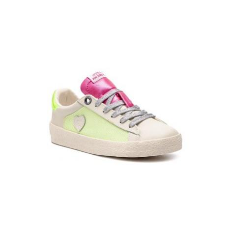 Pepe Jeans Sneakersy Portobello Glitter PGS30385 Béžová