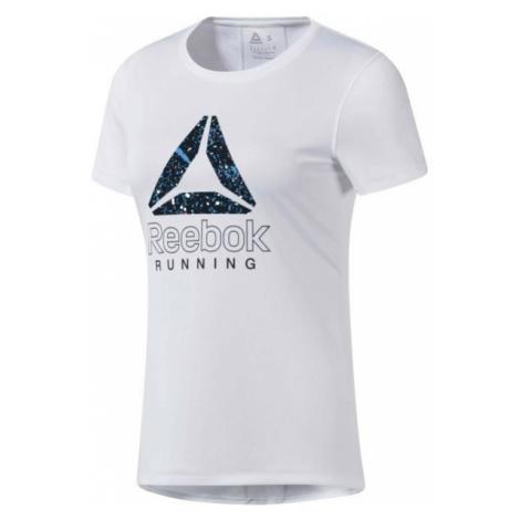 Reebok RUNNING ESSENTIALS GRAPHIC TEE biela - Dámske bežecké tričko