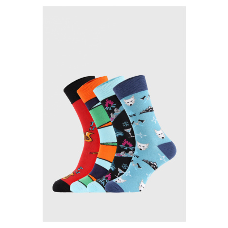 4 PACK ponožiek Bellinda Crazy Socks Winter