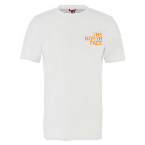 The North Face M Ss Graphic Flow 1 - Eu Tnfwht/Flameorg/Flameorng-XL biele NF0A4926QG1-XL