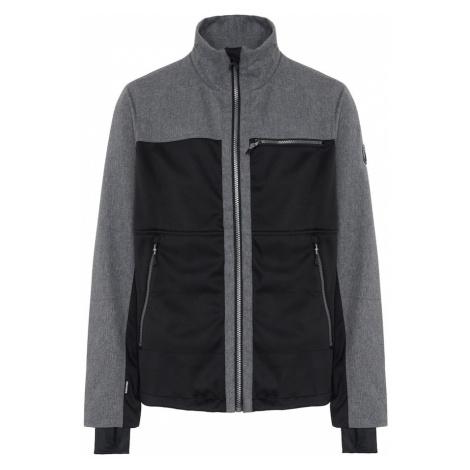 CHIEMSEE Outdoorová bunda 'LATSGA'  čierna / sivá melírovaná