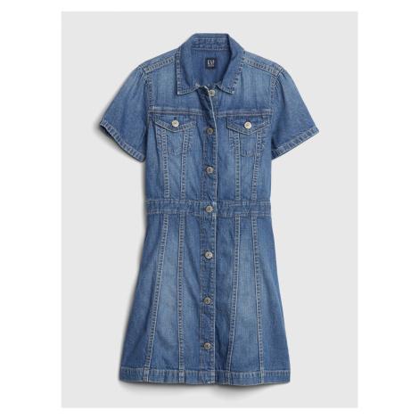 Modré dievčenské rifľové šaty GAP
