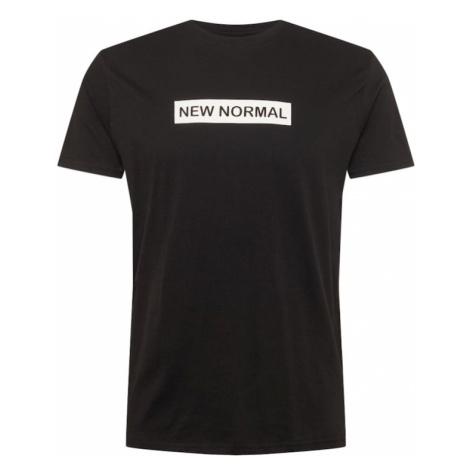 BRAVE SOUL Tričko 'NORMAL'  čierna / biela