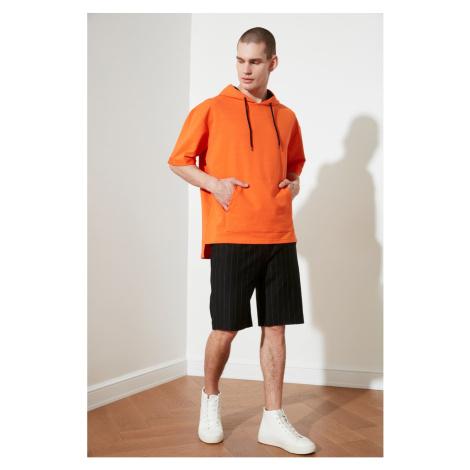 Trendyol Black Men's Regular Fit Striped Shorts & Bermuda