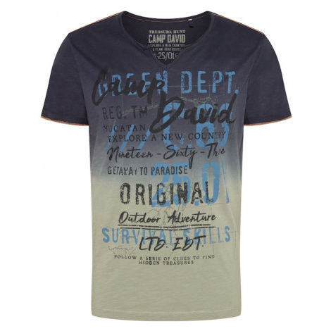 CAMP DAVID Tričko  dymovo šedá / dymovo modrá / čierna / modrosivá