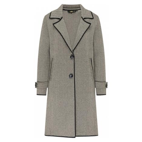 usha BLACK LABEL Pletený kabát  čierna / biela