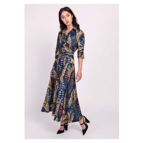 Lanti Woman's Dress Suk171 Navy Blue