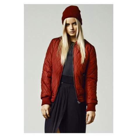 Urban Classics Ladies Diamond Quilt Nylon Jacket burgundy - Veľkosť:S