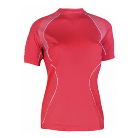 Dámské thermo tričko Brubeck s krátkým rukávem Barva červená