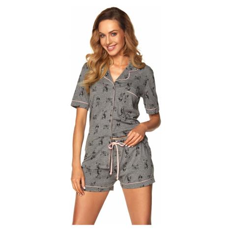 Dámske pyžamo Rossli Leila SAL-PY-1169 Grey Tmavě šedá