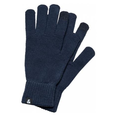 JACK & JONES Prstové rukavice  námornícka modrá
