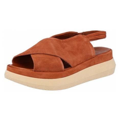 MJUS Sandále 'PASA'  karamelová