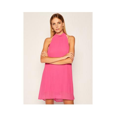 Pepe Jeans Koktejlové šaty Marilo PL952709 Ružová Regular Fit