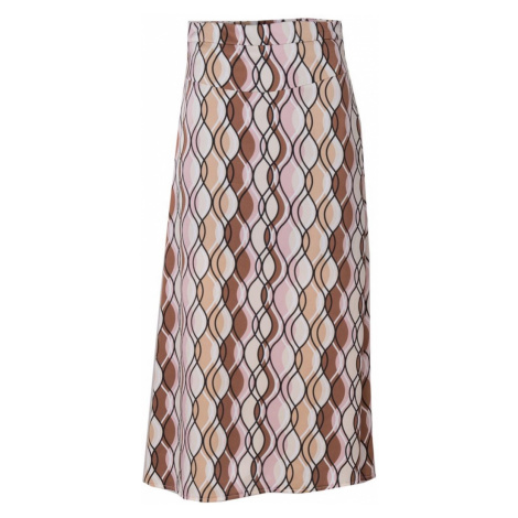 BSL Beige and pink midi skirt