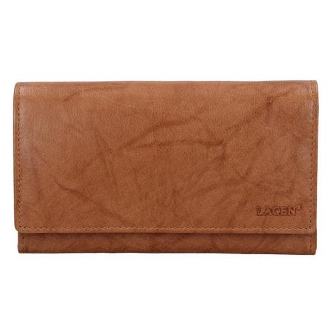 Dámska kožená peňaženka Lagen Victoria - svetlo hnedá