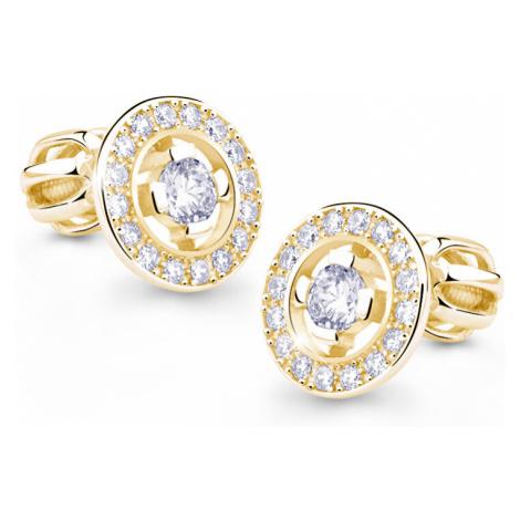 Danfil Originálne zlaté náušnice s diamantmi DF1988z