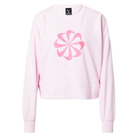 NIKE Športová mikina  neónovo ružová / svetloružová