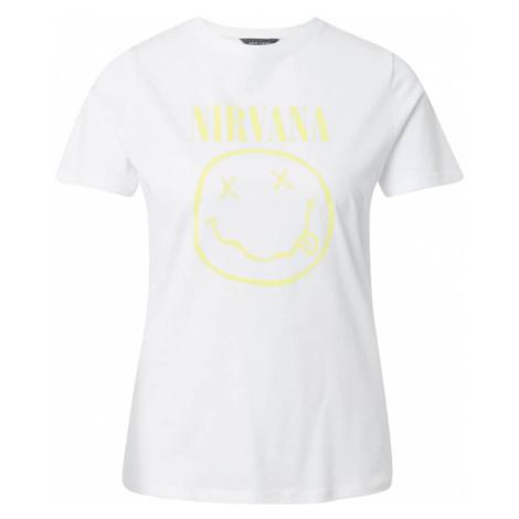NEW LOOK Tričko 'YELLOW NIRVANA'  biela / žltá