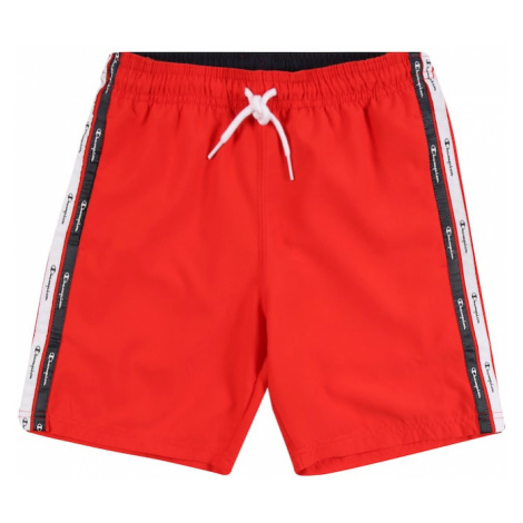 Champion Authentic Athletic Apparel Plavecké šortky  červená / čierna / biela