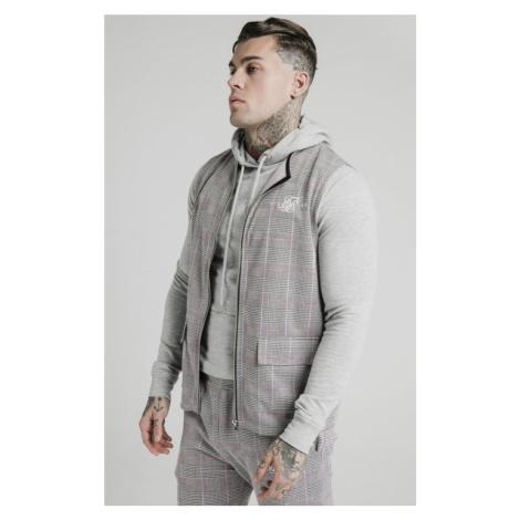 SIK SILK Pánska šedá vesta SikSilk Smart Wear