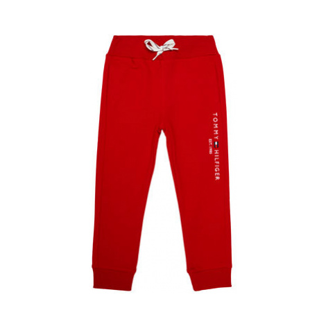 TOMMY HILFIGER Teplákové nohavice Essential KB0KB05864 M Červená Regular Fit