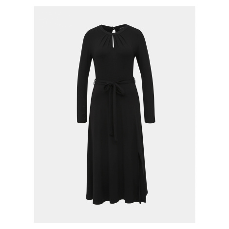 Čierne midi šaty Dorothy Perkins