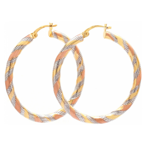 Zlaté náušnice - kruhy HASIDA