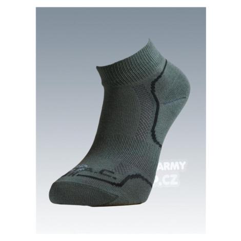 Ponožky so striebrom Batac Classic short - olív