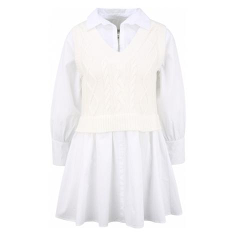 River Island Petite Košeľové šaty  krémová / biela