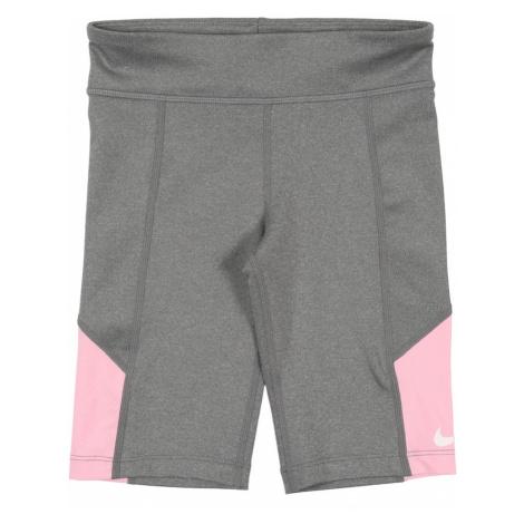 NIKE Športové nohavice 'Nike Trophy'  biela / ružová / sivá