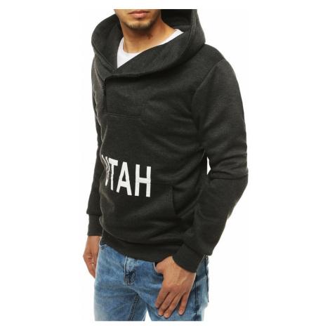 Dark gray men's hooded sweatshirt BX4530 DStreet