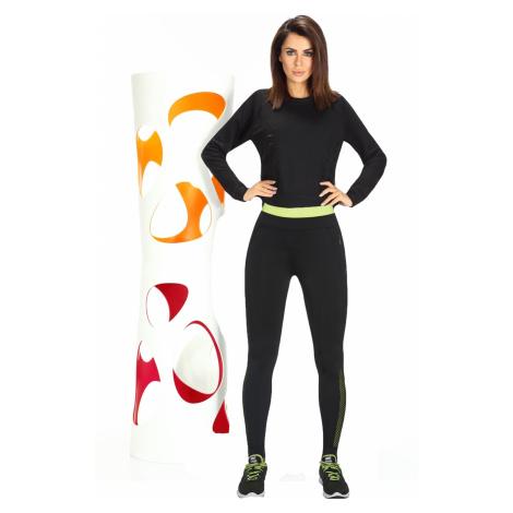 Fitness legíny Inspire black-green Bas Bleu