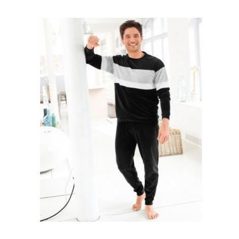 Blancheporte Velúrové pyžamo sivá