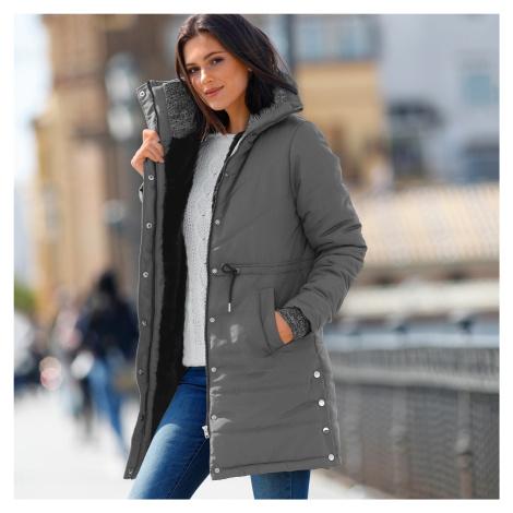 Blancheporte Dlhá prešívaná bunda sivá