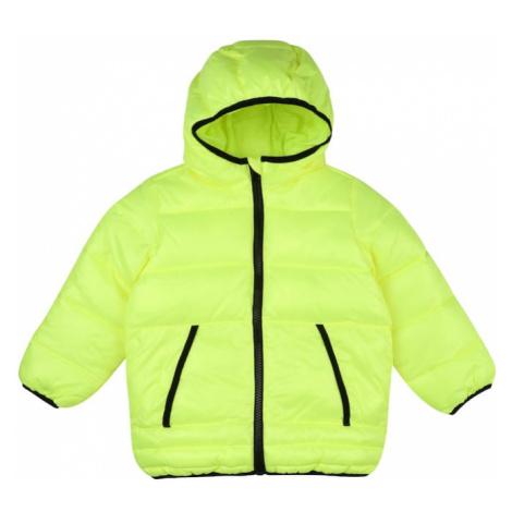 UNITED COLORS OF BENETTON Zimná bunda  čierna / neónovo žltá
