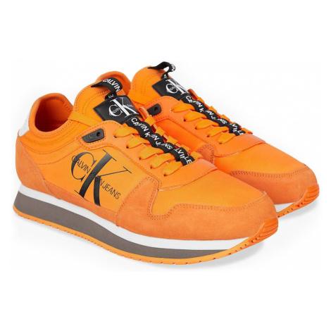 Calvin Klein oranžové pánske Runner Sock Laceup