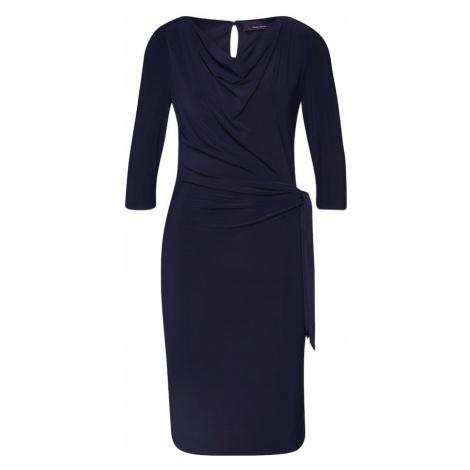 Vera Mont Puzdrové šaty  tmavomodrá