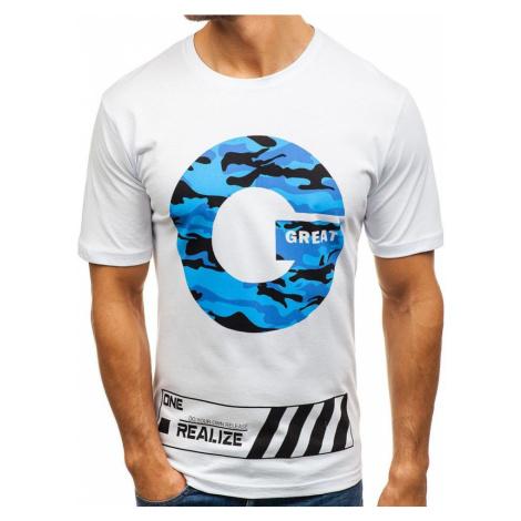 Biele pánske tričko s potlačou BOLF 6299 RIPRO