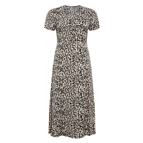 Missguided Plus Šaty 'Tea'  biela / čierna