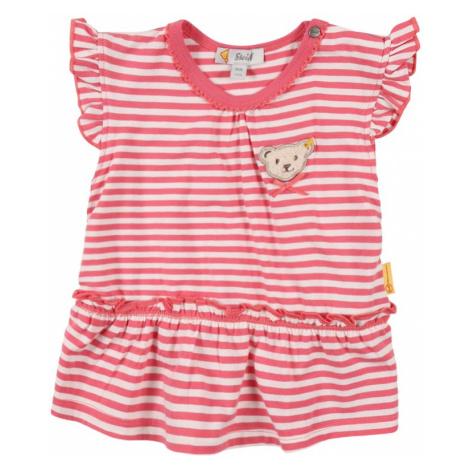 Steiff Collection Tričko  ružová / biela / svetlobéžová / tmavohnedá