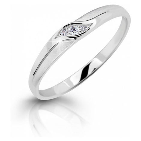 Cutie Jewellery Nežný zásnubný prsteň z bieleho zlata Z6815-2844-10-X-2 mm