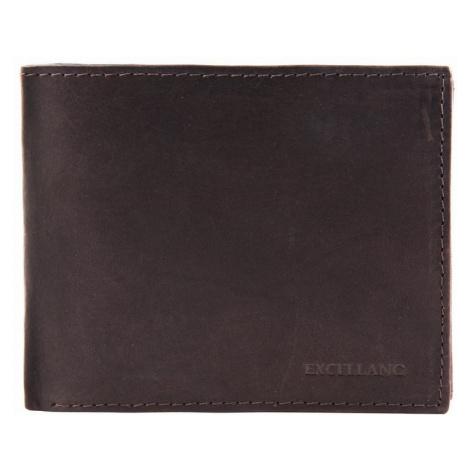 Pánska kožená peňaženka EXCELLANT - tmavohnedá