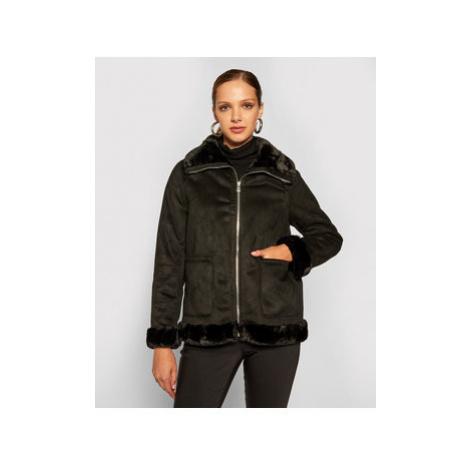 Lauren Ralph Lauren Prechodná bunda Fix Sheared Lamb Coat 297821781001 Čierna Regular Fit