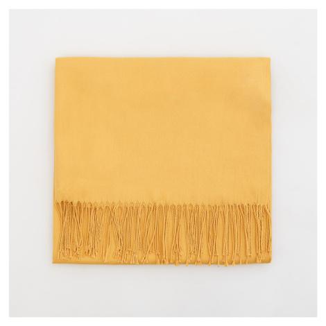 Mohito - Hladký šál s prímesou viskózy - Žltá