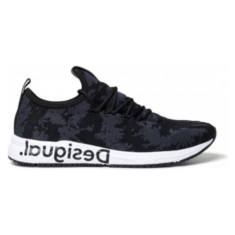 Desigual čierne tenisky Shoes Runner Knit Sock Low